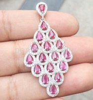 Wholesale Tourmaline pendant Natural real tourmaline necklace pendant sterling silver Perfect jewerly DH