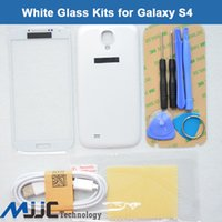 adhesive backed film - White Outer Glass Lens Screen Cover Replacement For Samsung Galaxy S4 I9500 Adhesive Tools Micro Cable Clear Film Back Cover