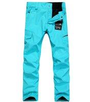 Wholesale Gsou Snow wind and waterproof ski pants men trousers thick veneer double plate ski pants men multicolor