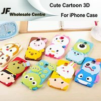 alien red eyes - Cute Cartoon D Bread Cases For iPhone S quot Back Covers Soft Silicone Three Eyes Aliens Stitch Sulley Cell Phones Rubber Skin
