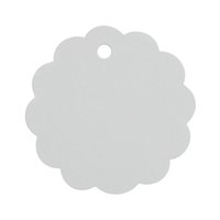Wholesale 50pcs cm Lace Round Blank Kraft Chipboard Tag Cardboard Tag Label Message Card