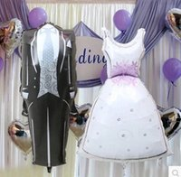 baloon dress - bag Decoration Wedding ballons Bride and Groom Dress Balloons foil globos Cartoon Birthday hen Party baloon classic toys