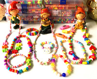 Bracelet baby vision development - Colorful Children DIY Jewelry Beads Set Toy Colorful Acrylic Beads Made For Bracelets Necklaces Good For Baby Vision And Mental Development