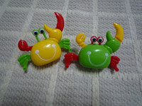 Wholesale popular funny wind up toy clockwork small size lateral walking crab with moving eyes