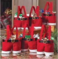 Cheap Pants Treat Candy Bags Best Christmas Gift Red Bag