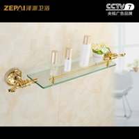 antique glass bathroom shelf - Ze faction pastoral antique glass shelf cosmetics shelf bathroom toilet bathroom accessories Stands