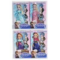 Wholesale Elsa and Anna dolls frozen doll with olaf baby doll toy gifts for girls joints movable mini doll