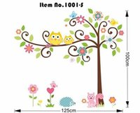 ebay - The ebay popular wall stickers The cute colorful owl standing in a tree