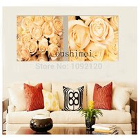 Cheap Pure hand-painted Oil Paintings On Canvas Romance Rose Flowers Pure hand-painted Painting Modern Wall Art Pure hand-painted Pict