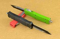 color knife set - Top quality Microtech Fine Edge three color OTF survivial knife tactical knife cutting tools best gift L