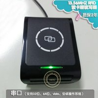 Wholesale RF S9 RFID NFC IC Reader Writer RS232 MHZ M WIN CE system support Tcp Ip lan Standard With battery
