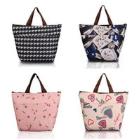Wholesale Flower Oxford Picnic Thermal Bag Neoprene Lunch Bag Food Cooler Bags Thermal Women Handbag Women Messenger Bags