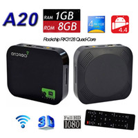 hdd player - 2016 New A20 Quad Core Android Smart TV Box RK3128 G G Media Player HDD Player P WIFI HDMI XBMC Set Top Box