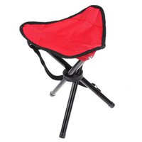 camping chairs - Bearing KG Portable Hiking Camping Three legged Stool Folding Outdoor Picnic Barbecue Small Seat Oxford Aluminum Family Travel Furniture
