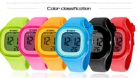 Wholesale High Quality SYNOKE Children Student Sports Watches Waterproof Alarm Backlight Colorful Silicone Jelly Digital Watches