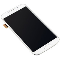 Wholesale white and blue tested New LCD Assembly Display Touch Screen with Digitizer and frame For Samsung Galaxy S4 i9500 i9505