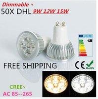 Wholesale 1pcs Big sale Ultra Bright dimmable w W W GU10 LED Bulbs Spotlight High Power GU10 led Lamp Day White LED SPOT Light