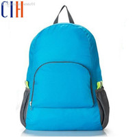 Wholesale Charm in hands Foldable Backpack Waterproof Nylon Unisex Travel Backpack High Quality Sport Lightweight Women Backpacks LM2433