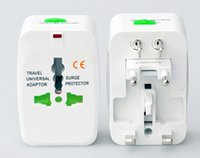 Wholesale International All in One Travel Power Plug Adaptor suit for all the world EU US UK UA in retail package