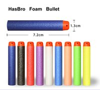 Wholesale 7 cm NERF N Strike Darts set for Hasbro Child Gun Toys foam Bullet Refill dart Soft Bullet HasBro Toy Multi colors