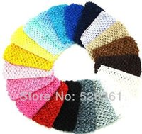 Wholesale Bulk Sale quot Cheap Low Price New Hot Crochet Baby Girl Headband Crochet Headwrap Headbands Headwear Assorted Colors