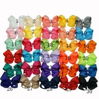 Wholesale Summer Style Hair Bows Big Grosgrain Ribbon Hair Bow With Clip Girls Jumbo Bows Baby Hair Accessories Colors In Stock DHL