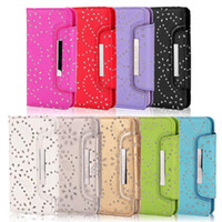 Wholesale For iphone s iphone plus s Plus in Glitter Flower Wallet Leather Case Cover With Magnetic Detachable Case