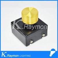 Cheap Wholesale-Wholesale! Modern Style Light modulator Black+Gold color light diy accessories lamp dimmer switch adapter for head bed