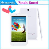 Wholesale Hot inch Sanei G701 MTK8312 Dual Core Phablet Android4 Dual SIM Dual Camera GB Bluetooth GPS G WCDMA Phone Call Tablet
