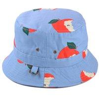 apple hat pattern - fashion Korean cartoon apple banana pattern flat basin hat girl lovely fisherman hat cheap high quality style