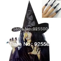 acrylic nail s - halloween props cheap fashion nice Witch hat denture nail nose chin fancy dress Halloween clothes cosplay set
