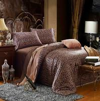 leopard print bedding - 2015 New Bedding Set Leopard Duvet Cover Set TC Eygptan Long stapled Cotton Bedding Set Queen King Size Sateen Fabric