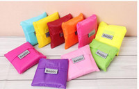 Wholesale 10pcs mixed Candy color Japan Folded Baggu Reusable Eco Friendly Shopping Tote Bag pouch Environment Safe Go Green
