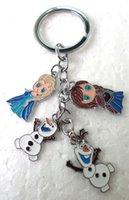 Wholesale Frozen Elsa ANNA Olaf Mix Style Keychain key chains key ring pendant multicolour