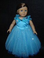 18 doll - Dress for American Girl Dolls Princess Cinderella Costume Dress AG481