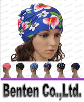 Wholesale 17 Colors Ladies Womens Swimming Hat Swim Bathing Turban Elasticated woman Long Hair Large Comfortable Swimming Caps LLFA4936F