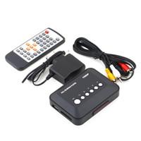 Wholesale 2016 New Full HD p Media Box USB HDMI Multi TV Media Videos Player Box TV Videos SD MMC RMVB MP3 Player EU Plug