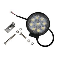Wholesale 9 LEDS W Round flood beam spot beam led work light for SUV OFF ROAD CAR
