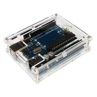 achat en gros de arduino cas uno-Boîtier de protection acrylique transparent pour Arduino UNO R3 DIY Module Board Demo Shell E0698