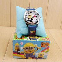 Wholesale 2016 frozen Despicable Me Minions Wristwatches Children watch cartoon band set box Christmas gift box with box