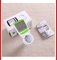 ac power consumption monitor - Green Color V A AC EU Plug energy meter power KWH Consumption Monitor Analyzer digital watt meters A3