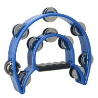 Wholesale Two ring Hand Tambourine Rattles Drum Ring New Blue