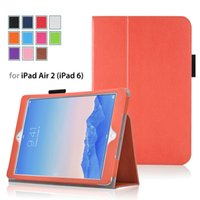 Wholesale 9 quot inch tablet case For IPAD AIR IPAD stand tablets cheap cases leather covers colors