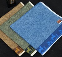 Wholesale High end men s cotton jacquard handkerchief father s Day Valentine s Day gifts
