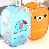 Wholesale Hot Sales Dirty Clothes Children Toys Storage Bag Cartoon Folding Laundry Bucket Basket Polyester Size CM JH37