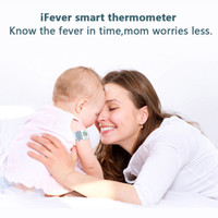 Wholesale Children iFever Smart Thermometer Temperature Alarm Bluetooth Real time Synchronization Smart Baby Monitor Household Thermometer for Kids