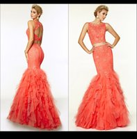 Wholesale 2015 Exquisite Scoop Neck Mermaid Prom Dresses Off The Shoulder Appliques Pink Evening Gowns Special Occassion Dresses For Christmas Dresses