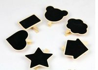 Wholesale Fedex Wooden small blackboard clips bookmark creative wedding party place chalkboard message board