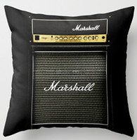 Wholesale 2016 Customized Guitar Electric Marshall Amp Amplifier Special for Music Mania Cool Zippered Square Throw Pillowcase Cushion Case