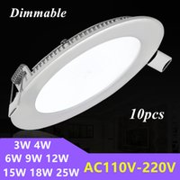 Wholesale Dimmable Recessed Round LED Panel Lights W W W W W W W W LED Ceiling Lamp Down Light AC V